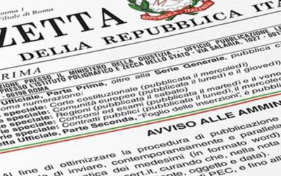 Pubblicato in Gazzetta il Decreto Ristori Bis